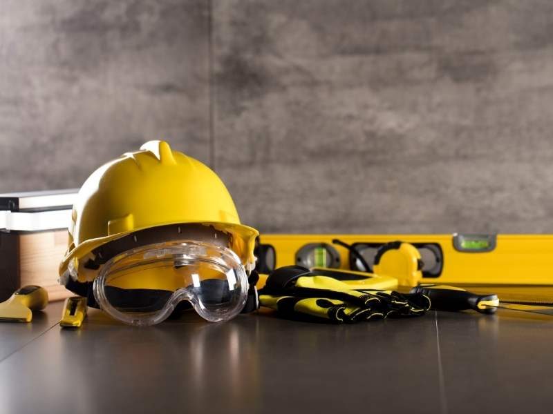 a photo of gear a construction worker or contractor would wear